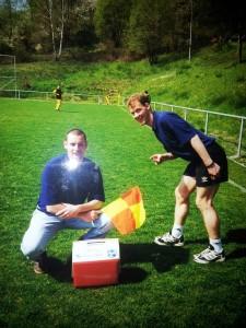 Ralf Hechler und ich vor vielen vielen Jahren:)